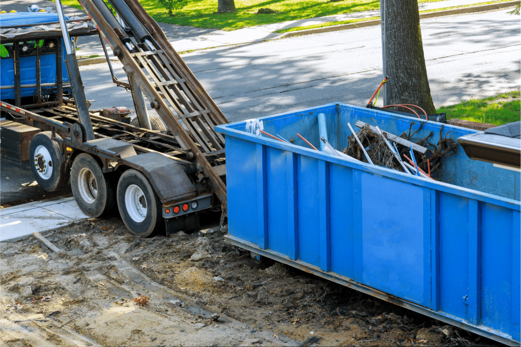 Home moving dumpster rental in Tampa